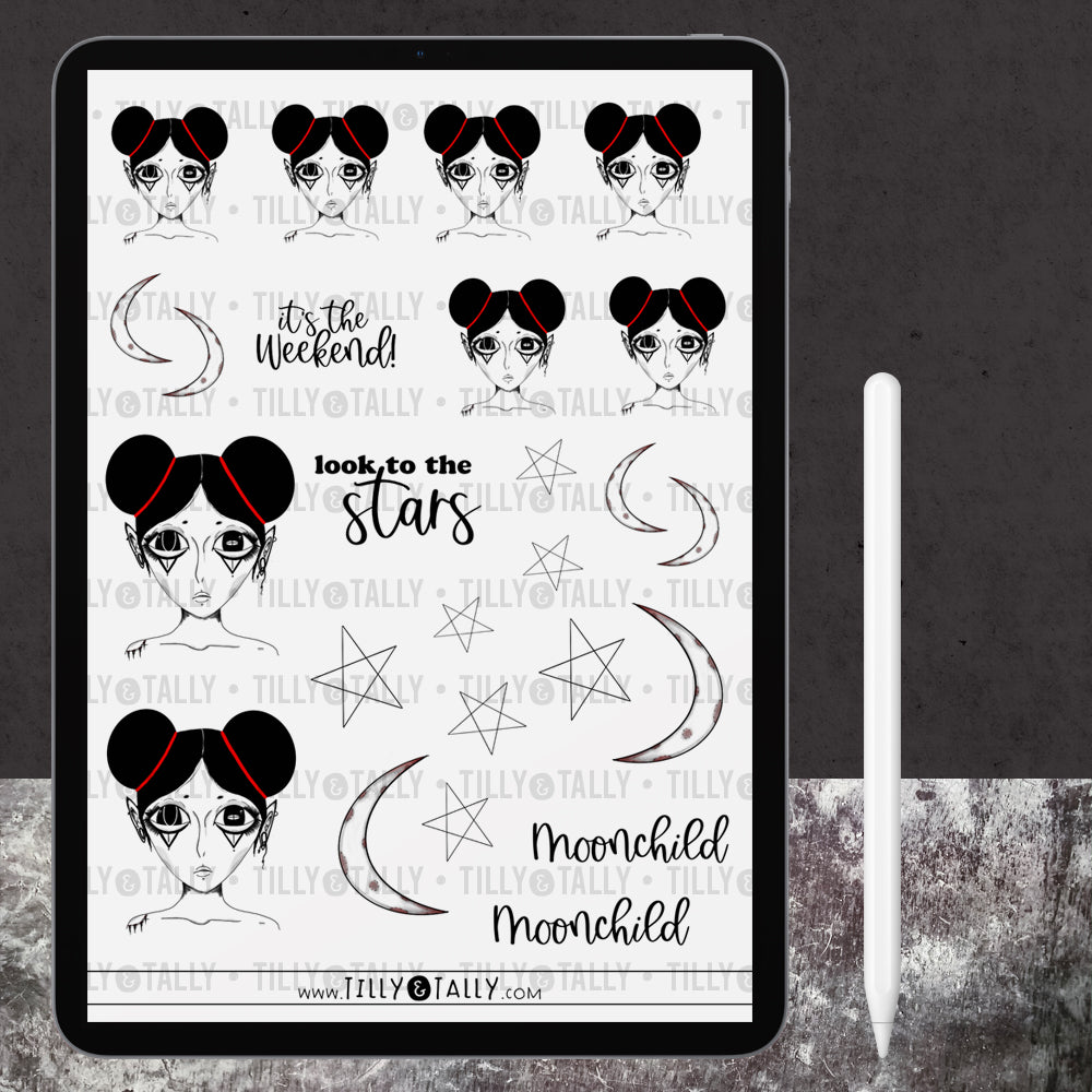 Moonchild Sticker Sheet