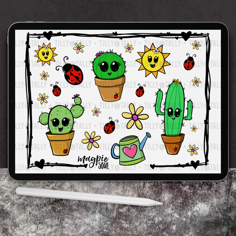 Cactus Pals Sticker Sheet