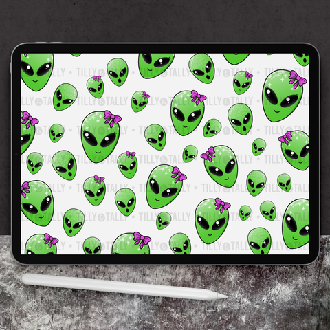 Spaced Out Alien Paper