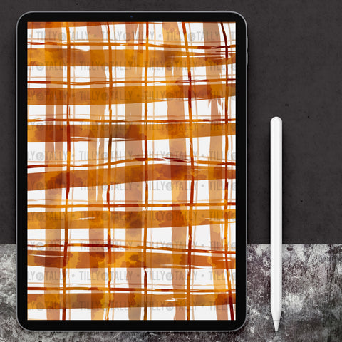 Autumn Plaid Paper