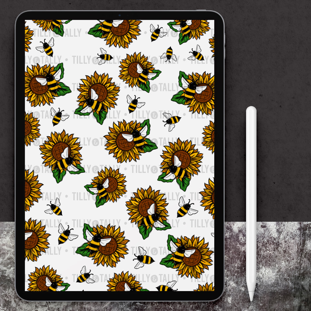 Sunflower Bee Paper