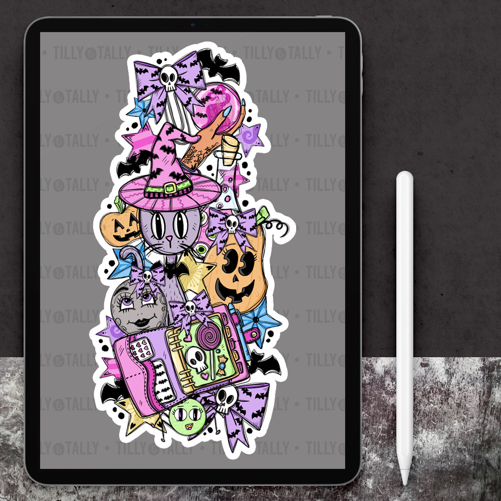 Pastel Halloween Bookmark Die Cut