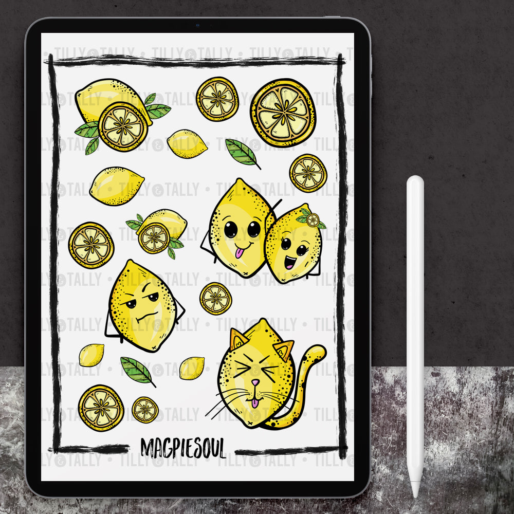 Lemon Kitties Sticker Sheet