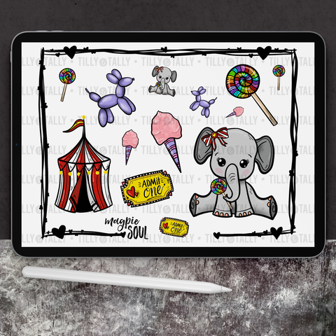 Ellie's Circus Sticker Sheet