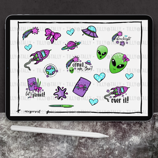 Spaced Out Sticker Sheet
