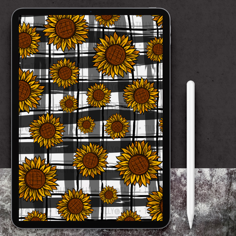 Sunflower Plaid Paper