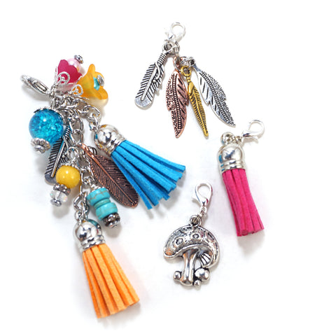 Feather Tassel - Charm Set