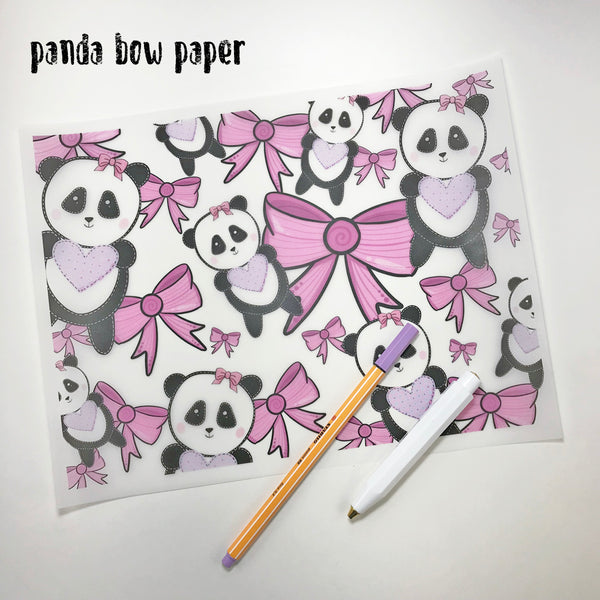 PINK BOW PANDA COLLECTION