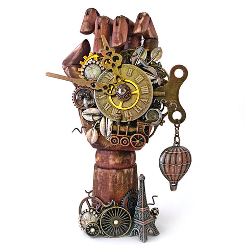 Steampunk Altered Hand Statue