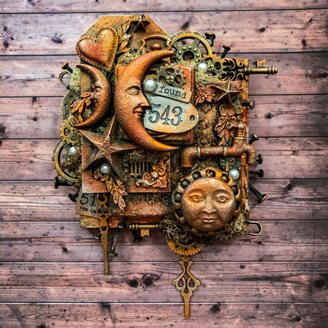 "Steampunk ""Found"" Canvas"
