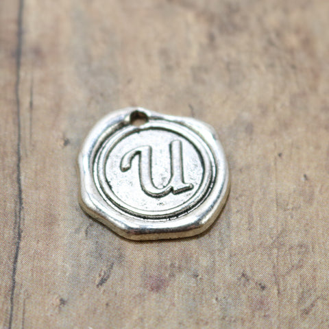 Faux Wax Seal Letter - U
