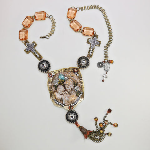 Madonna & Child Assemblage Necklace