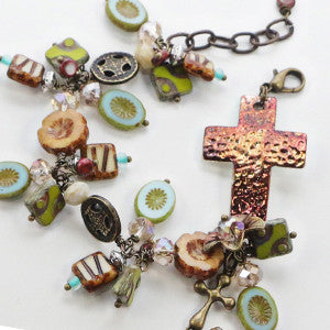religious catholic christian jewelry cross bracelet