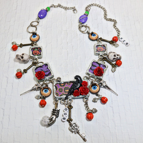 Hocus Pocus Soldered Halloween Necklace