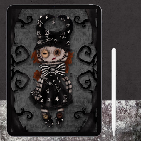 Moonchild Doll Digital Art Print