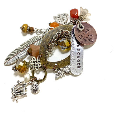 Sassenach Bagpipes & Sailboat Charm Clip