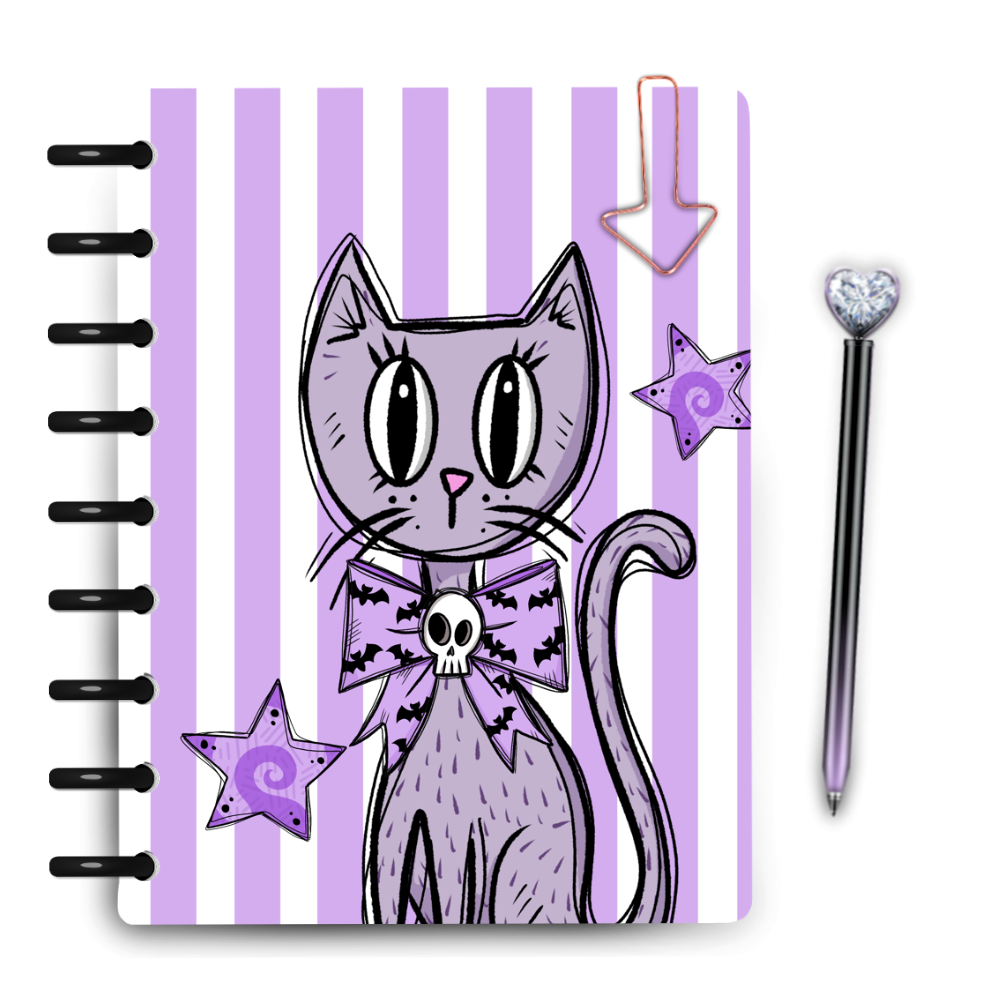Pastel Kitty Stripe Cover