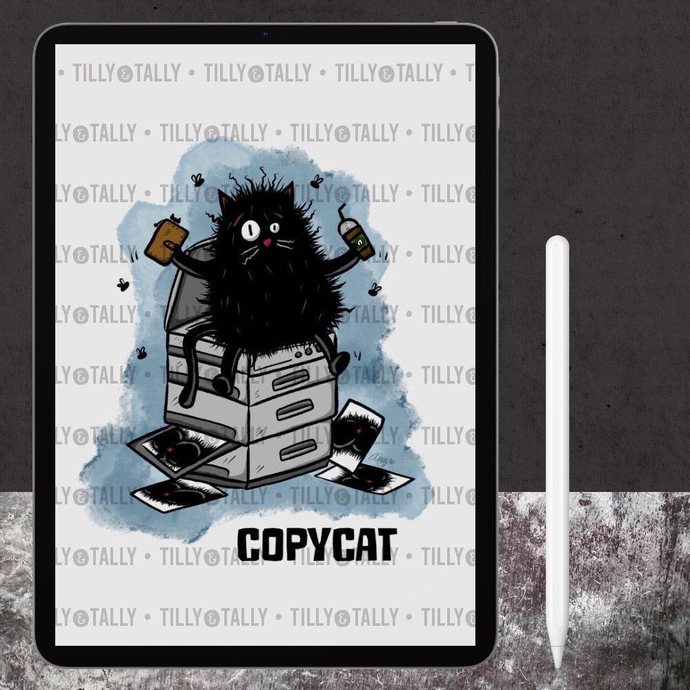 Copycat Digital Art Print