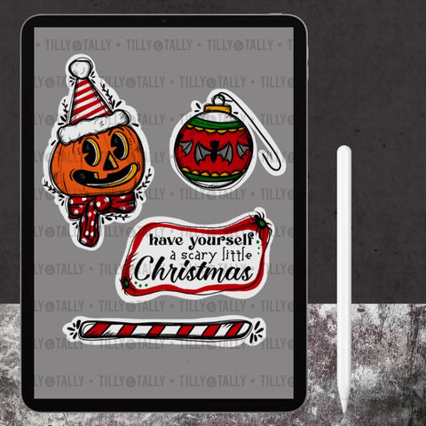 Scary Little Christmas Die Cut Set