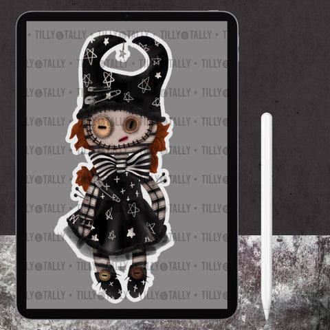 Moonchild Doll Digital Die Cut