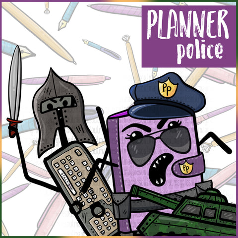PLANNER POLICE PRINTABLES
