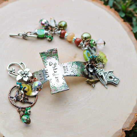 Let Life Surprise You- Cross Bracelet