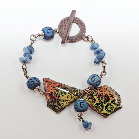 clay jewelry paisley tribal bead magpie soul