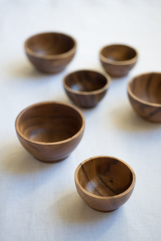 Wooden Round Dishes