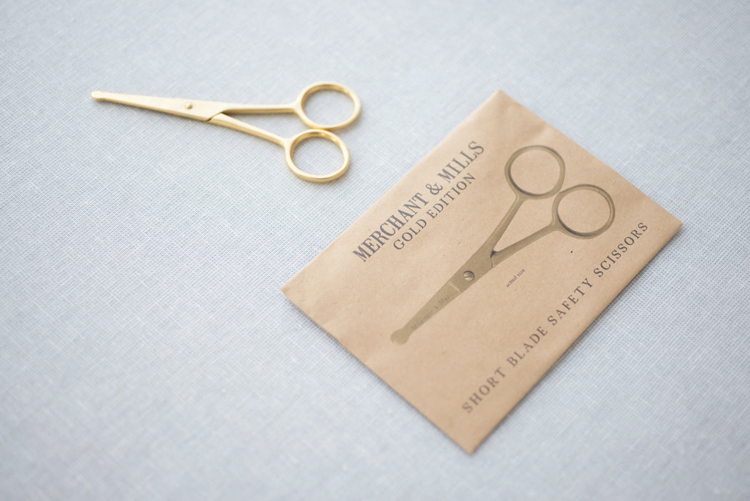 Merchant & Mills Short Blade Safety Gold Scissors
