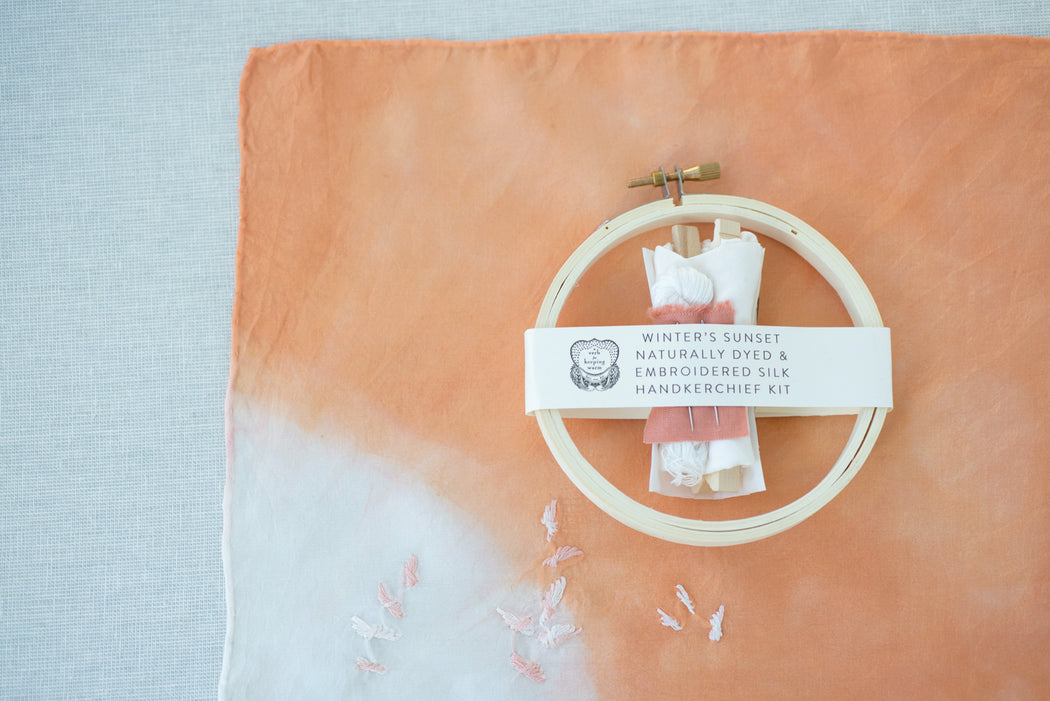Winter's Sunset Handkerchief Kit