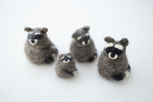 Needle Felting Kit: Some Raccoons