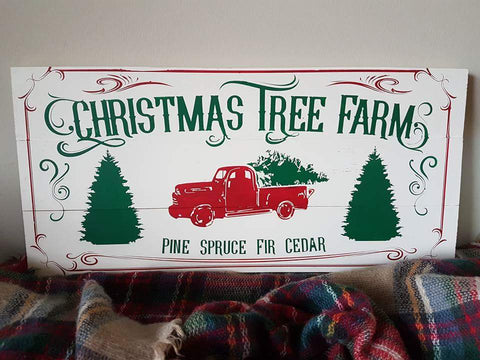 "'Christmas Tree Farm' Sign | 12""x24"""