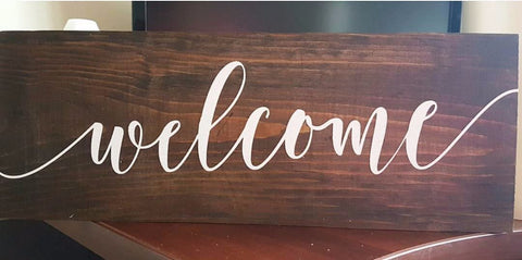 "'Welcome' Sign | 6""x16"""