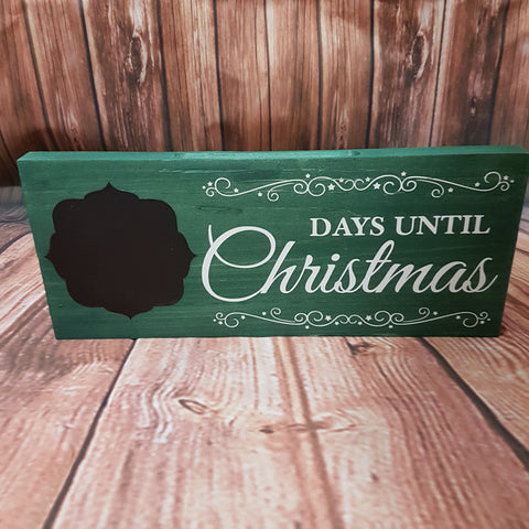 "'Days Until Christmas' Chalkboard Sign | 5""x12"""