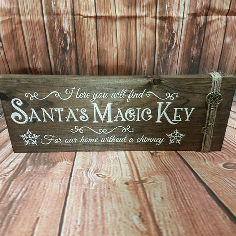 "'Santa's Magic Key' Sign | 6""x16"""