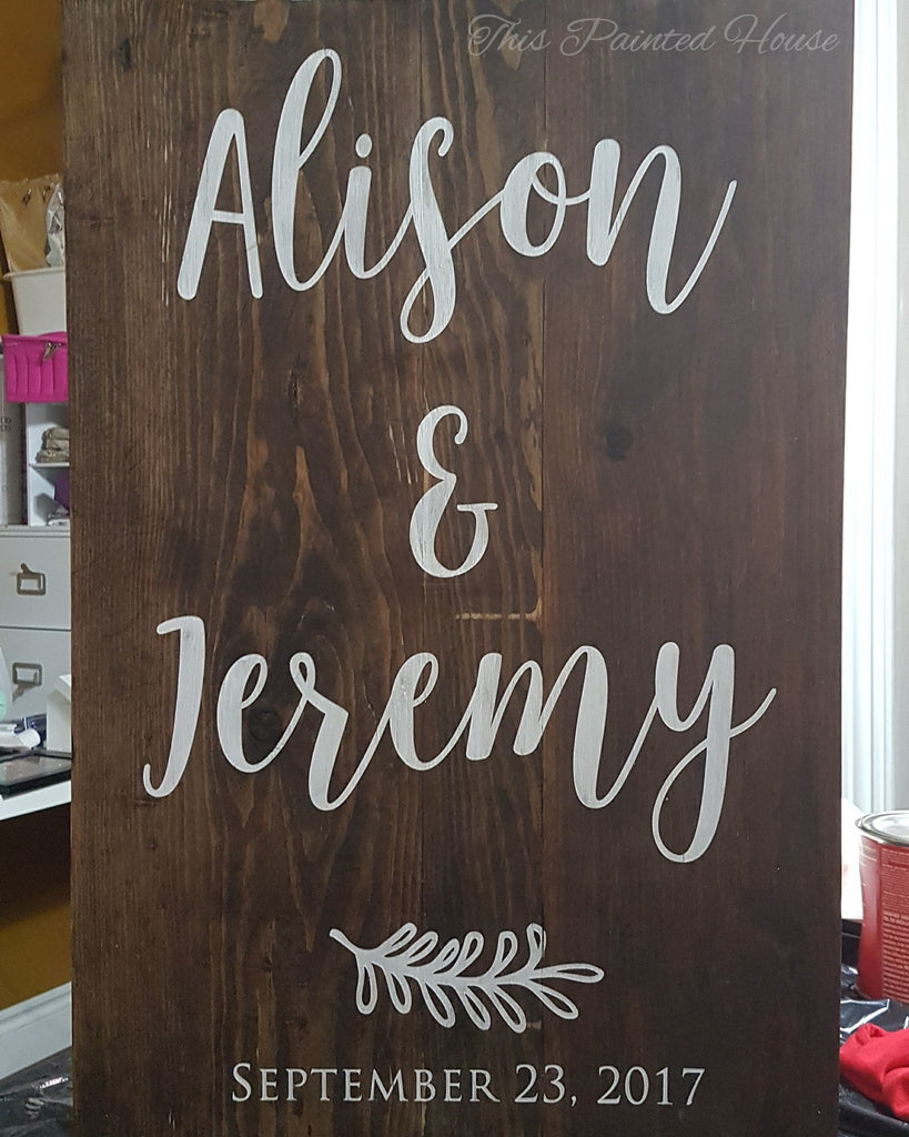 "Name & Wedding Date Sign | 18""x24"""