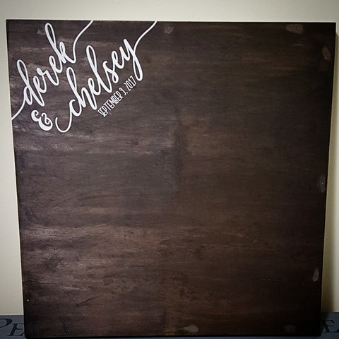 "Wood Wedding Guest Book | 18""x18"" / 20""x20"" / 24""x24"""