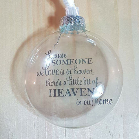 'Heaven in Our Home' Floating Memorial Ornament