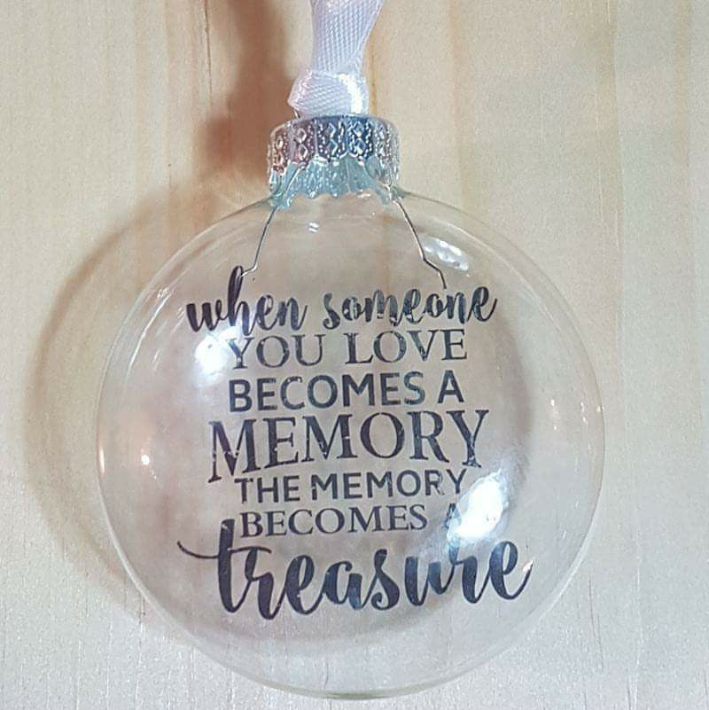 'Memory Becomes a Treasure' Floating Memorial Ornament