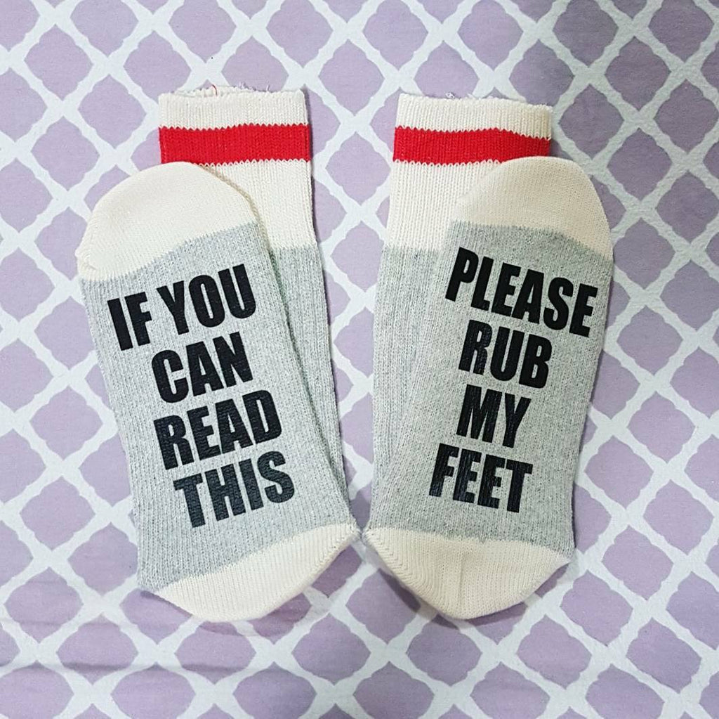 Please Rub My Feet Socks
