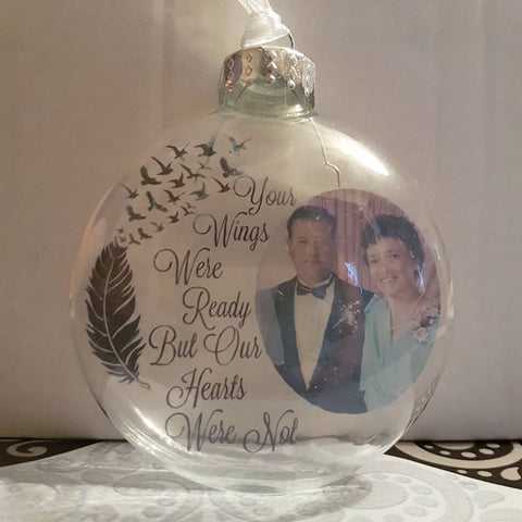 Custom Photo Memorial Ornament