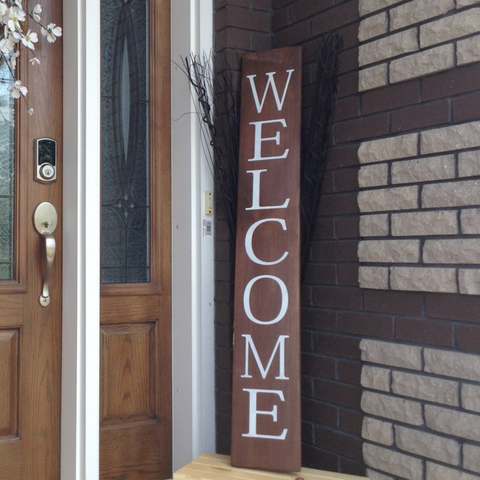 "'Welcome' Porch Sign | 8""x48"""