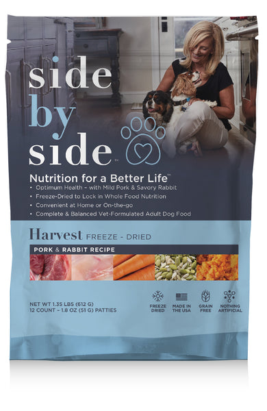 Harvest Freeze-Dried | Mild Pork & Savory Rabbit Natural Pet Food (front)