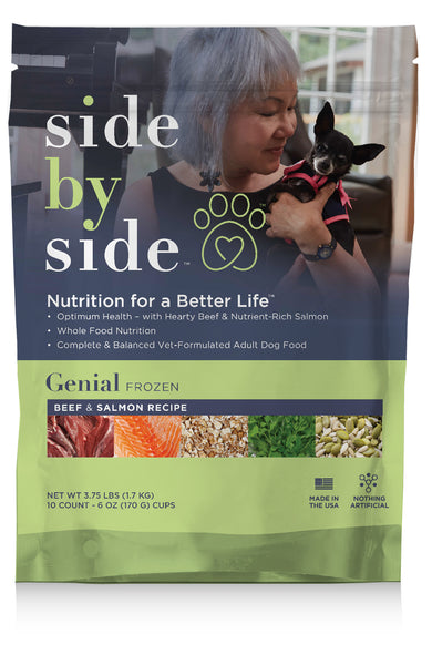 Genial Frozen | Beef & Salmon High Protein Pet Food (front)