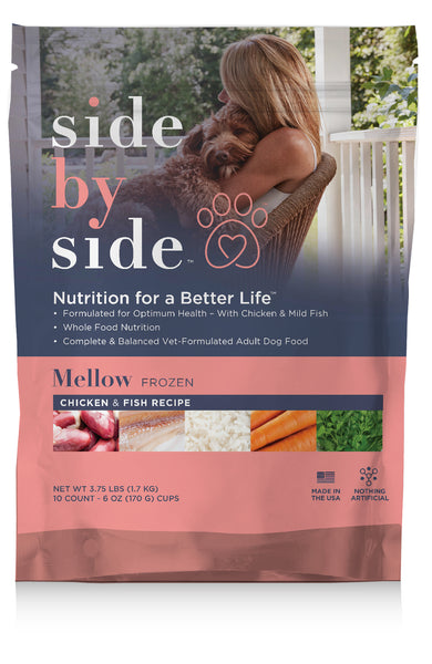 Mellow Frozen | Chicken & Fish Whole Ingredient Pet Food (front)