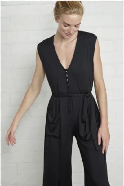 Rachel Pally Rhona Jumpsuit: Black