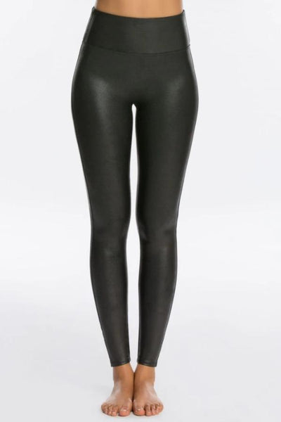Spanx Faux Leather Leggings: Black
