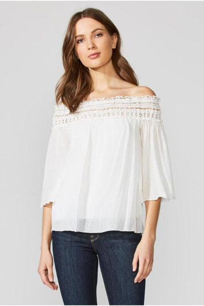Bailey 44 Bareback Blouse: Chalk