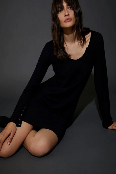 Nation Camille Dress: Jet Black