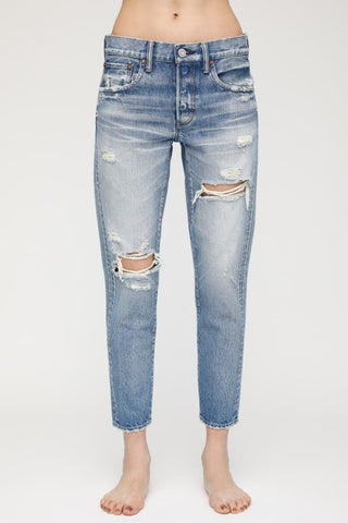 Moussy Vintage Bowie Tapered: Blu
